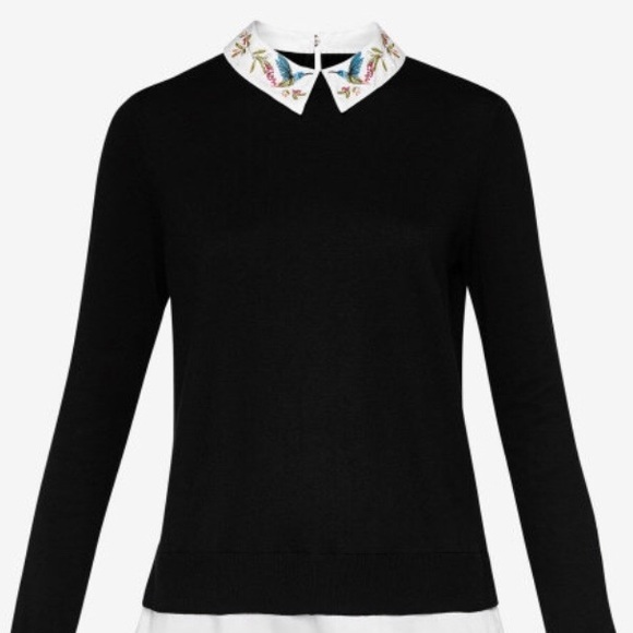 0779fa2a6f4131 Ted Baker Sweaters   Women Embroidered Collar Jumper Nwt 1   Poshmark